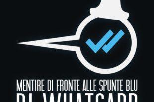 logo Mentire di fronte alle spunte blu di Whatsapp