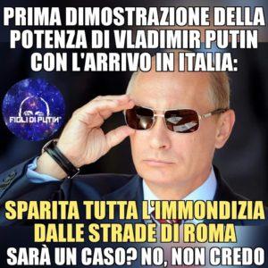 Putin immondizia roma